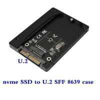 M.2 NVME SSD to U.2 SFF-8639 Adapter Card 2.5 inch aluminum alloy case For PC