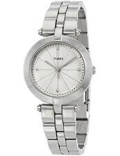 Timex Women's Greenwich Silver-Tone Stainless Steel Quartz Watch - TW2P79100