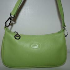 Longchamp Kiwi Green Wristlet Clutch Small Purse Mint Condition