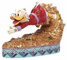 DISNEY TRADITIONS trésor plongée Scrooge Picsou FIGURINE ORNEMENT 12.5cm 4046055