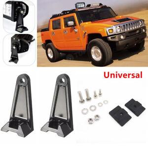 Universal Car Offroad LED Work Light Bar Side Mounting Bracket Aluminum For Jeep