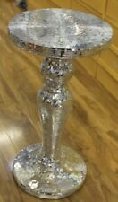 new statue Silver Mosaic Mirrored Table Modern Dress Stand Bed Side Romany gift