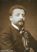 PHOTO ANCIENNE SALON 1883 PEINTRE Henri CAIN 13,5 x 9,6 cm