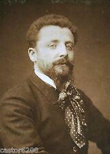 PHOTO ANCIENNE SALON 1883 PEINTRE Henri CAIN 13,5x9,6