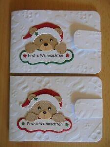 Geldgeschenk-Grusskarte °Bärchen mit Grüßen° Weihnachten - für Geld - Beigabe