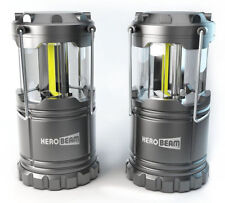 HeroBeam LED Lantern 300 Lumen Collapsible Camping Lamp - Twin Pack