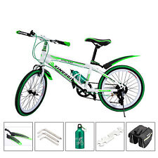Green 20 inch Kids Mountain Bike ,7 Speed MTB ,Front V-brakes ,Rear Disc Brake
