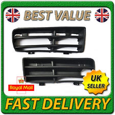 Left Right Pair Black Front Lower Corner Bumper Grille for VW GOLF MK4 1997-2006