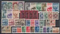 AV5530/ ALBANIA – 1920 / 1950 MINT SEMI MODERN LOT – CV 260 $