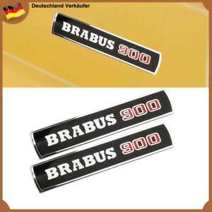 2x BRABUS 900 Schriftzug Abzeichen Schwarz Seite Panel Emblem für Mercedes Benz
