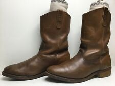 VTG MENS RED WING PECOS WORK BROWN BOOTS SIZE 11 D