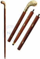 Nautical Brass Walking Stick/Canes Wooden Walking Stick Brass Collectibles Item
