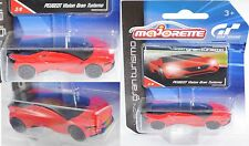 Majorette 212054050 Peugeot Vision Gran Turismo mit Sammlerflyer 1:62