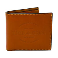 New with Tag Coach Double Billfold Leather Wallet 24647 Saddle