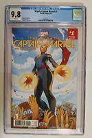 Mighty Captain Marvel #1 (CGC 9.8) Torque Cover! 3/17