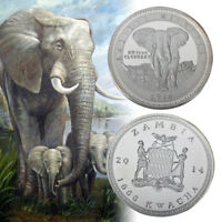 WR 2014 African Wildlife Animal Elephant Silver Coin Best Gift For child
