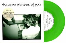 """THE CURE ROBERT SMITH - PICTURES OF YOU - LTD ED GREEN 7"""" 45 RECORD PIC SLV 1990"""