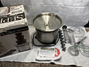 """Sephra Classic Stainless Steel Chocolate Fountain 18"""" Model CF18L-SST Z1"""