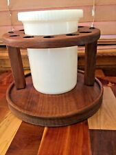 Vintage Walnut 10 Pipe Stand