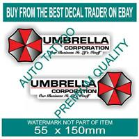 UMBRELLA CORPORATION DECAL STICKER X2 STICKERS ZOMBIE REANIMATED LIVING DEAD