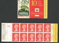 GB 1998 barcode booklet SGHD45 Cyl B14 10 x 1st class 1667 booklet mint stamps