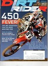 Dirt Rider Motocross Magazine Feb 2013  Justin Barcia  450 Fever MX Shootout