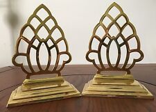 Brass Pineapple Bookends Office Bookcase New Home Gift, Hollywood Regency