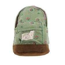 1/6 Dollhouse Miniature Green Flowers Printed Backpack Rucksack Shoulder Bag