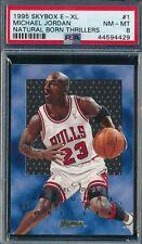 MICHAEL JORDAN 1995-96 SKYBOX E-XL NATURAL BORN THRILLERS PSA 8 INSERT CARD #1!
