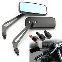 2x Universal 8/10mm Bar End Motorcycle Motorbike Rear View Side Rearview Mirror