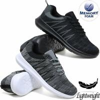 Mens Trainers Lightweight Memory Foam Walking Running Fitness Gym Sports Shoes
