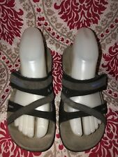 WOMEN'S MERRELL SANDSPUR BLACK PERIWINKLE SLIDE COMFORT SANDALS SIZE 6 / 37
