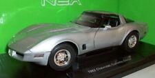 Welly 1/18 Scale - 12546W 1982 Chevrolet Corvette Coupe silver