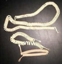 Vintage Telephone Cords Lot of 3 Phone Coil Handset