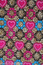 African Wax Print Cotton Ankara Fabric Superior Quality Bright Colors Per Yard