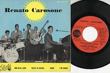RENATO CAROSONE disco EP 45 MADE in FRANCE Buon Natale amore + 3 STAMPA FRANCESE