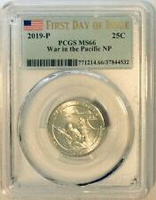 PCGS MS66 2019 P War in the Pacific National Park Quarter ~ FIRST DAY OF ISSUE