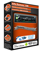 Alfa Romeo 156 radio estéreo de coche, Kenwood CD MP3 Player USB AUX frontal Plus