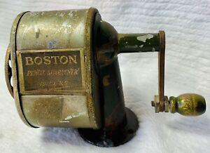 Early Boston Model KS Pencil Sharpener Hunt Pen Co. Camden, NJ C Howard Pen Co