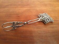 Rare Antique 800 Silver Very Detailed Sugar Tongs 62 G