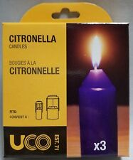NEW UCO 9-Hour Citronella Candles 3-Pack for UCO Original Candle Lantern