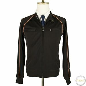 Ben Sherman Brown Polyester Piped Full Zip Side Striped Sweater Track Jacket L