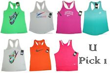 Nike Tank Top Racer Back Athletic Training Tee Women Sports Shirt Active Wear