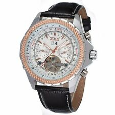 Jargar Men's Watch Automatic Tourbillon Leather Band Original Brand Wristwatch