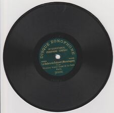 7 inches ZONOPHONE 78rpm RECORD Paris VICTOR LEJAL La Scala LE SABRE DU COLONEL