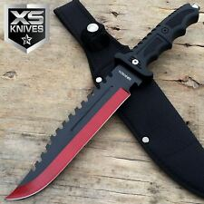 "13"" CSGO Tactical Survival Rambo Army Bowie Fixed Blade Back Sawback Knife"