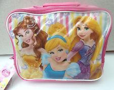 DISNEY Principessa Rosa isolato borsa pranzo Dimensioni circa: 25x20x7.5 cm