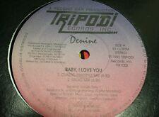 "RARE FREESTYLE Denine - Baby, I love you. - 12"" Tripodi records"