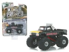 "1975 Ford F-250 Monster Truck ""Earthquake"" Black with Flames ""Kings of Crunch"" S"
