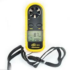 Digital Anemometer Thermometer Luft Wind Geschwindigkeit Meter Tester Portable